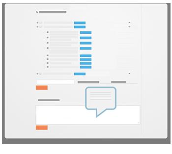Partager des informations, autour de la stratégie ou du plan d'action que vous partagez, dans le fil de commentaire du logiciel de management advanseez
